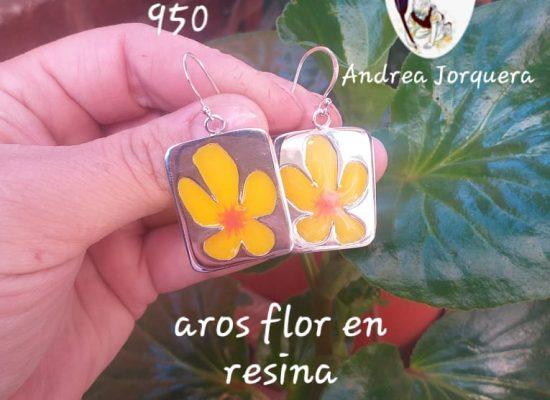Aros de flor en resina