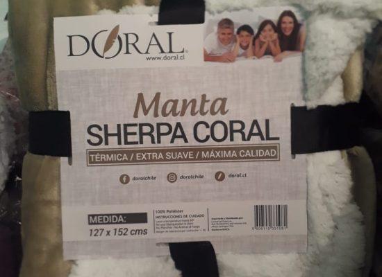 Manta Sherpa Coral