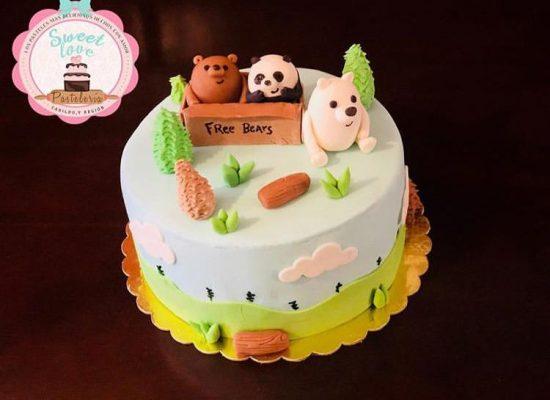 Torta fondant osos escandalosos